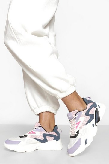Multi Chunky Panelled Trainer