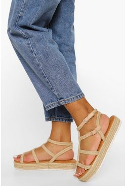 Natural beige Rope Caged Flatform