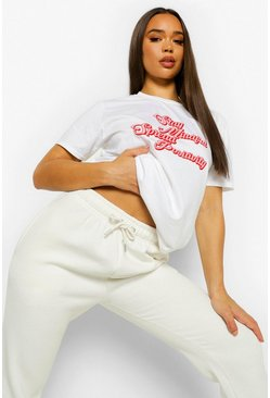 White Stay Mindful T Shirt