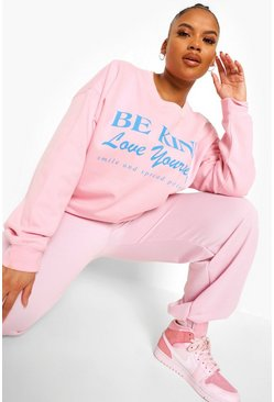 Pale pink pink Plus Be Kind Sweatshirt