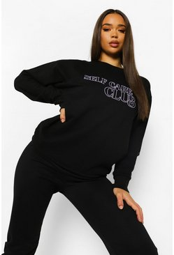 Black Self Care Club Sweatshirt
