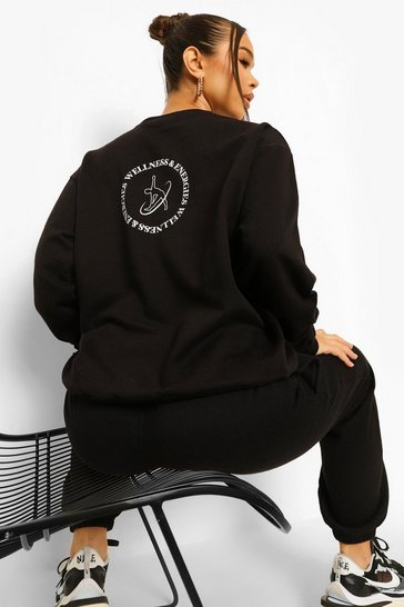 Black Wellness Back Print Sweatshirt
