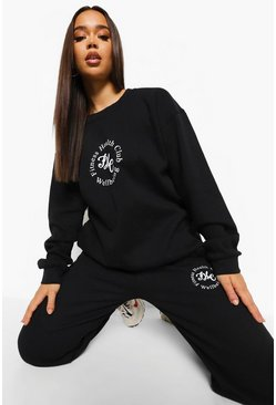 Black Fitness Health Club Sweater Tracksuit