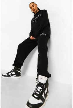 Black Sport & Relaxation Tracksuit