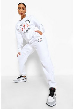 White Cali Wellbeing Club Tracksuit