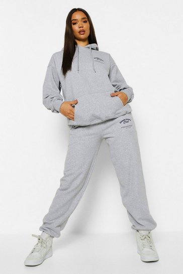 Grey marl grey Fitness Health Club Slogan Tracksuit