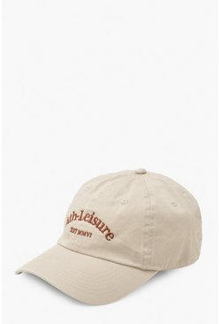 Beige Ath-leisure Unstructured Cap