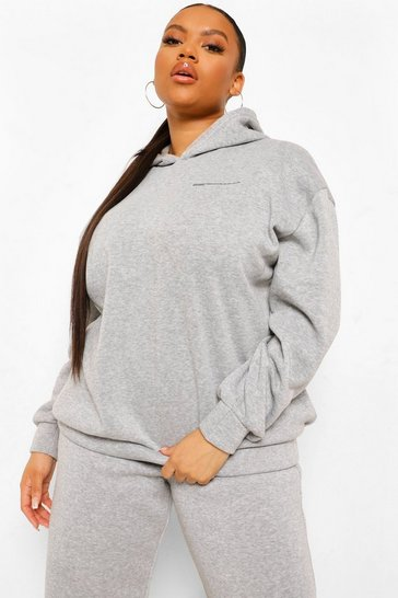 Grey marl grey Plus Official Health Club Sweat Tracksuit
