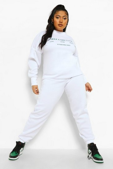 White Plus Self Care Club Sweat Tracksuit