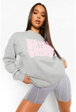 Wellbeing Sweatshirt , Grey marl grau