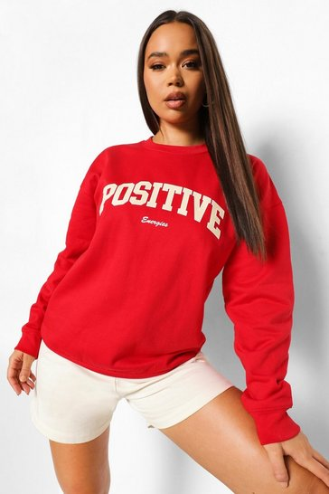 Red Positive Sweatshirt