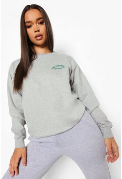 "Grey marl grå ""Mindful"" Sweatshirt"