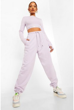Lilac purple Official Tape Detail Oversized Joggers