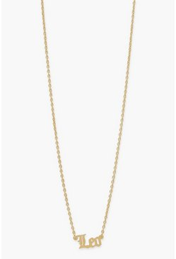 Gold metallic Zodiac Leo Necklace