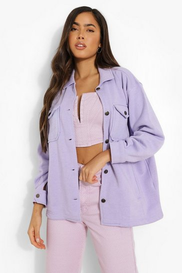 Lilac purple Soft Touch Shacket