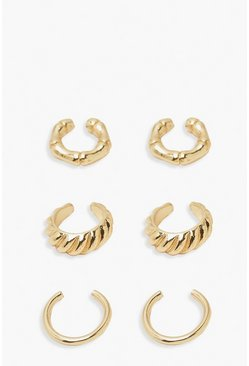 Gold metallic Textured Cuff Mixed Pack