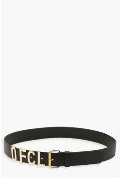 Black Ofcl Branded Boyfriend Belt