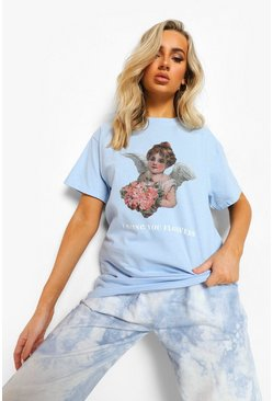 Light blue blue Angel  T-Shirt