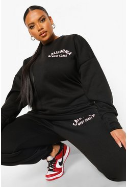 Black Plus California Oversized Sweat Tracksuit