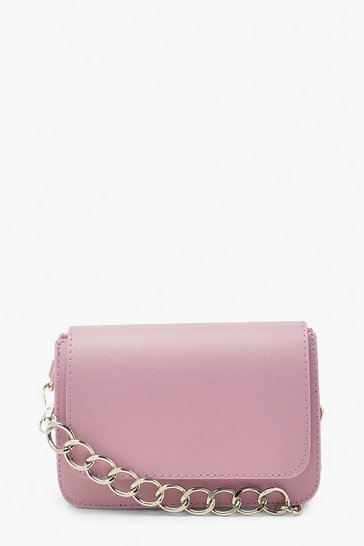 Lilac purple Chunky Chain Cross Body Bag