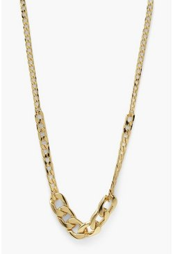 Gold metallic Mix Chain Chunky Necklace