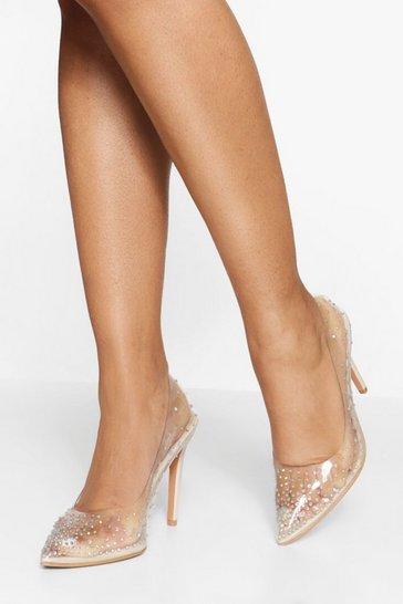 Diamante Clear Heels