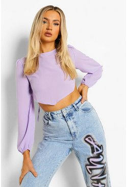 Lavender purple Backless Top