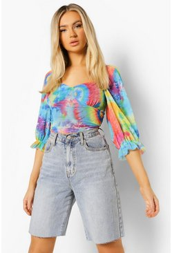 Multi Tie Dye Crop Top