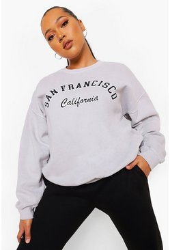 Grey Plus San Francisco Overdye Sweat