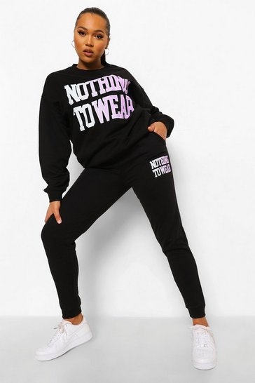 Black Plus Nothing To Wear Tracksuit