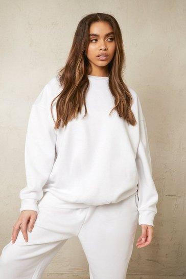 White Recycled Oversized Sweatshirt