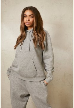 Grey marl grey Recycled Over The Head Hoodie