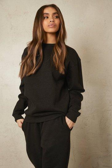 Black Recycled  Sweatshirt