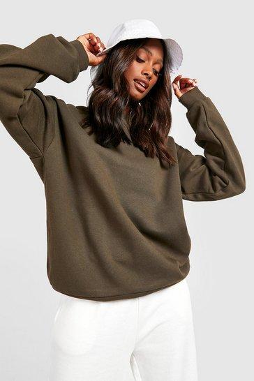 Khaki Green Recycled  Sweatshirt
