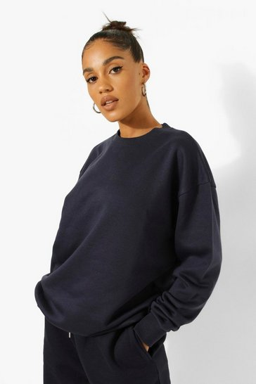 Navy Recycled  Sweatshirt