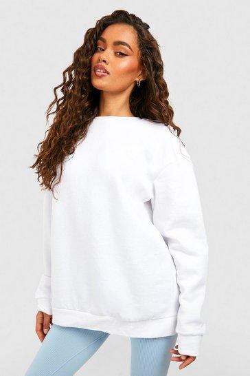 White Recycled  Sweatshirt