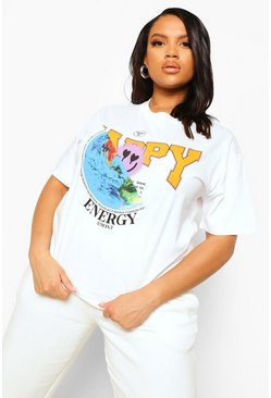 White Plus Happy Energy T-Shirt