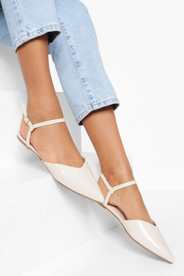 Nude Wide Fit 2 Part Pointed Ballerina