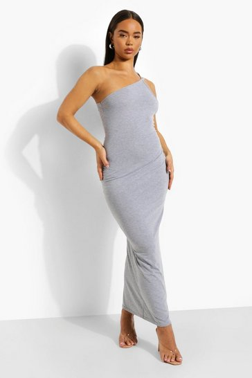 Grey marl grey Double Strap Low Back Maxi Dress