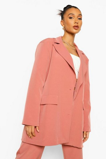 Desert rose pink Oversized Tailored Blazer