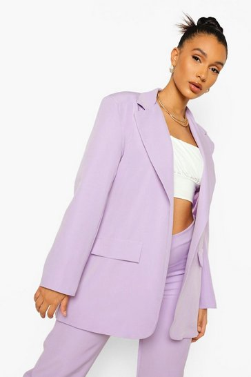 Lilac purple Oversized Tailored Blazer