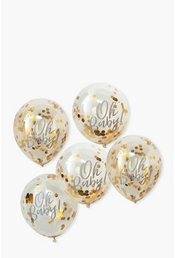 Ginger Ray Gold Foil Confetti Filled Balloons