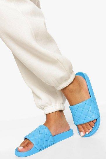 Blue Quilted Slider