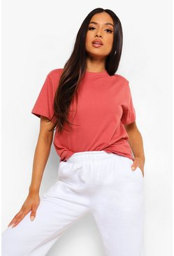 Pink Petite Basic T-Shirt, Dusty rose rose