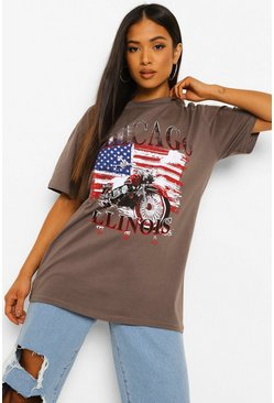 Petite - T-shirt Chicago, Charcoal gris