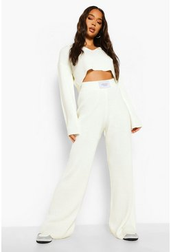 Ecru white Official Sleeve Tab Knitted Co-ord