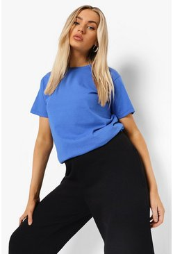 Cobalt blue Blue Basic T-Shirt