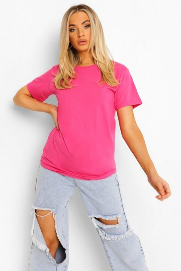 Hot pink pink Pink Basic T-Shirt