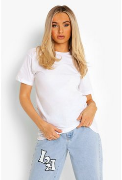 T-shirt basique, White blanc