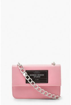 Pink Ofcl Chain Strap Cross Body Bag